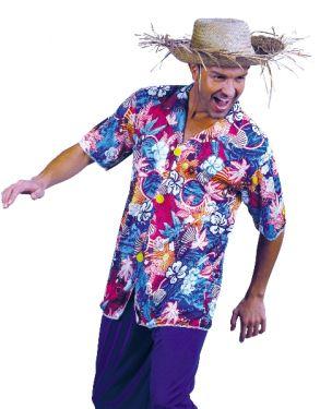 "Hawaiian Fancy Dress Tunic Shirt - 40-42"" Chest"